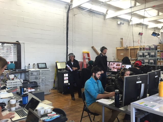 The Daily Burn 365 production crew kicks off the show. Image: Nicholas Deleon/Motherboard