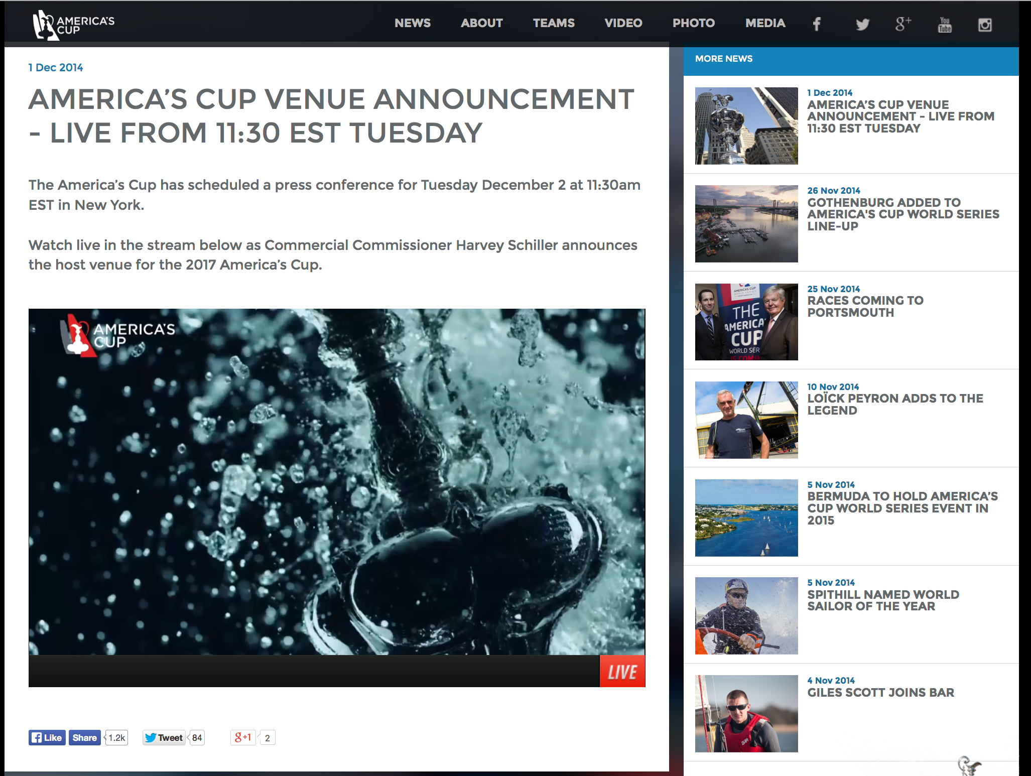 America's Cup LIVE Press Conference